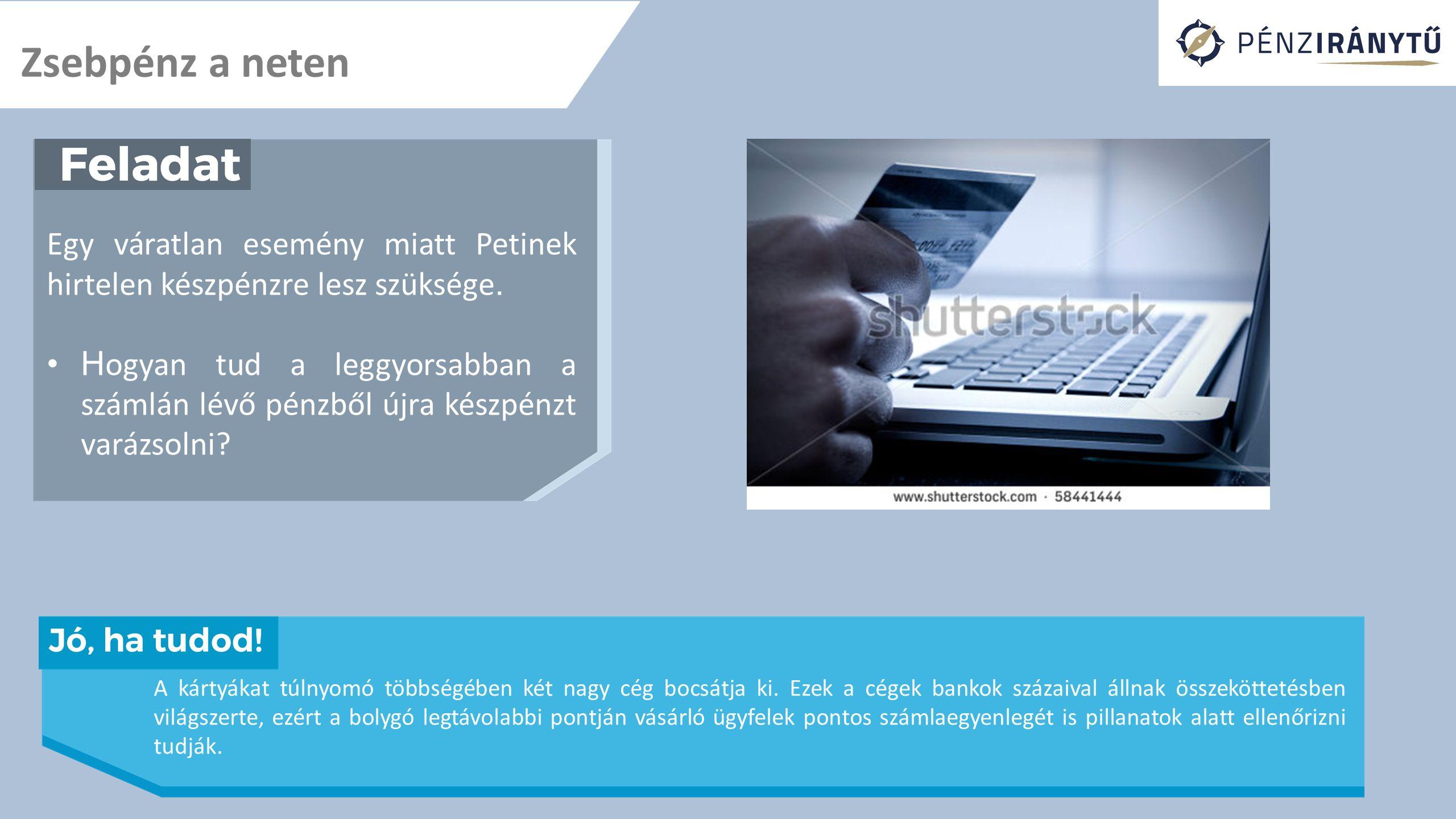 A legfontosabb tudnivalók A következő óra témája: Pénzforgalom a bankszámlán Mire jó a bankkártya.