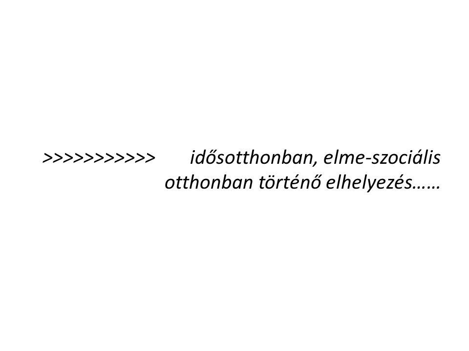 >>>>>>>>>>> idősotthonban, elme-szociális otthonban történő elhelyezés……