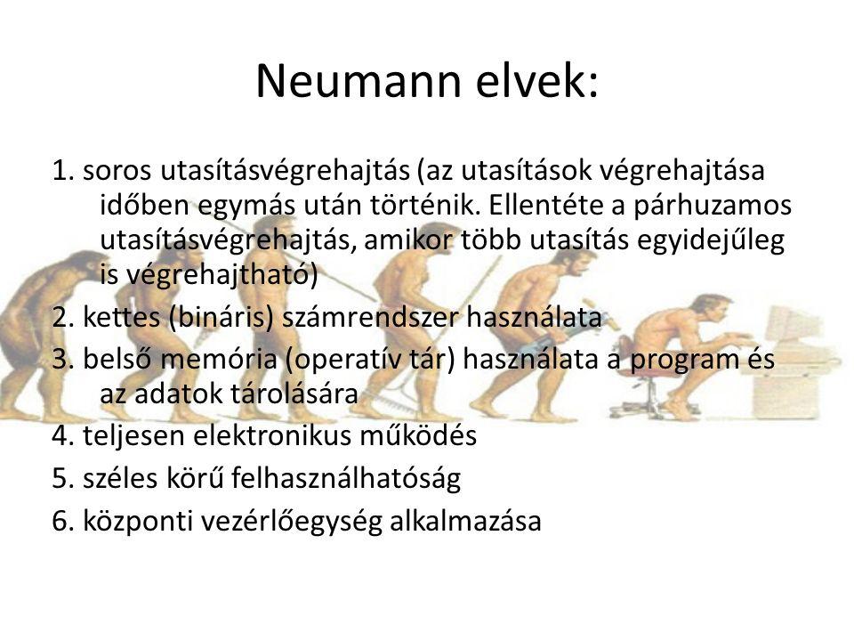 Neumann elvek: 1.