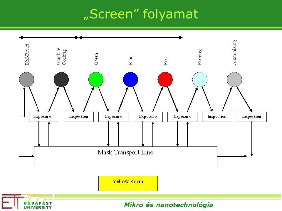 """Mikro és nanotechnológia """"Screen folyamat"""