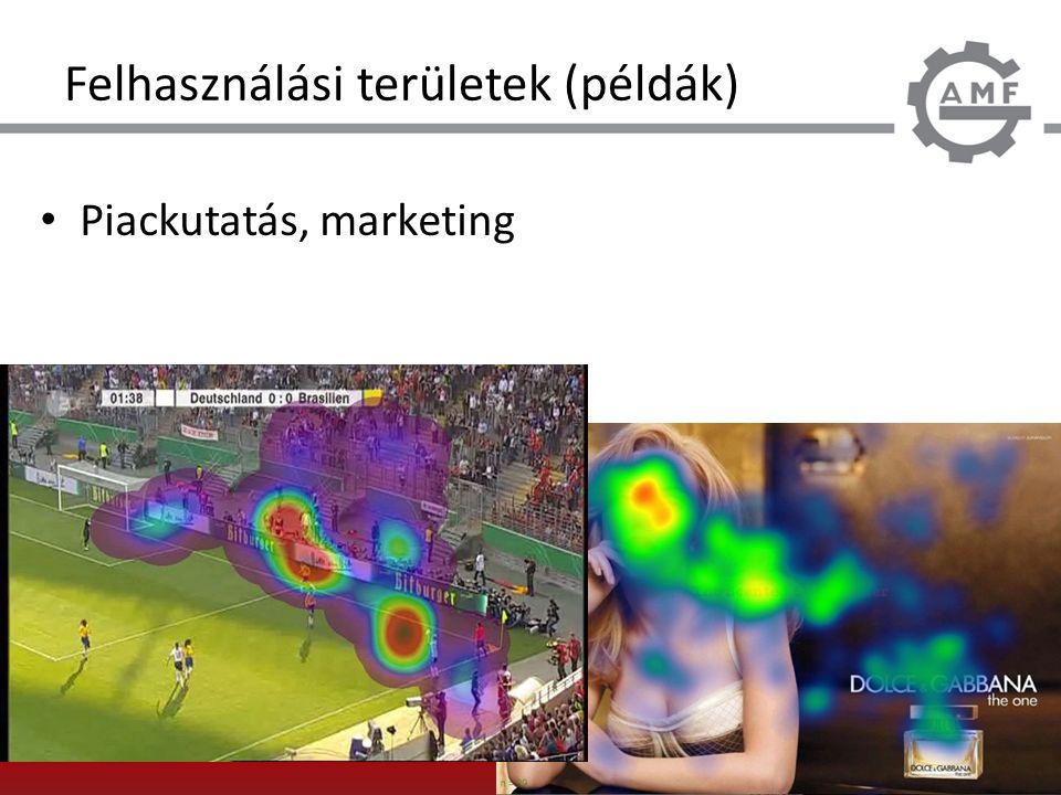 Felhasználási területek (példák) Piackutatás, marketing