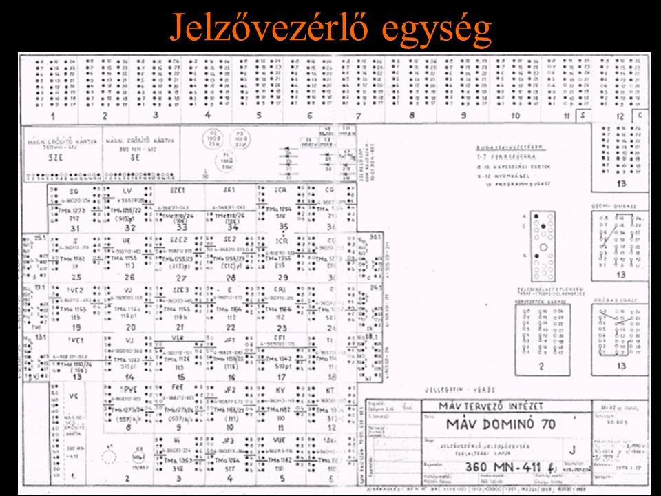 Rétlaki Győző: D70 szerkezeti elemek Jelzővezérlő egység