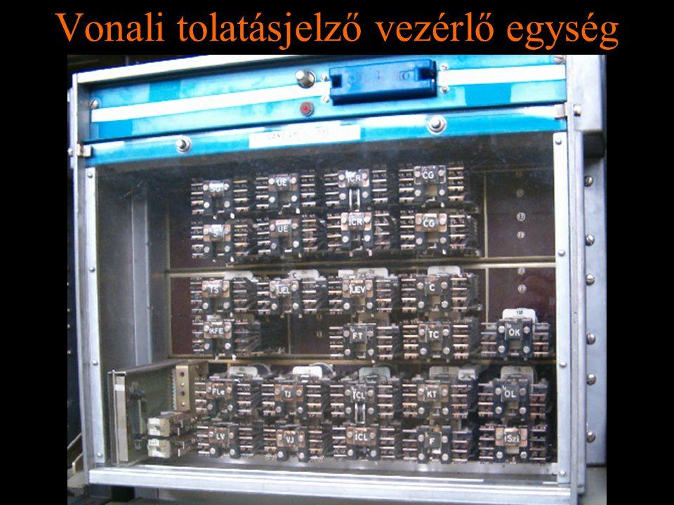 Rétlaki Győző: D70 szerkezeti elemek Vonali tolatásjelző vezérlő egység