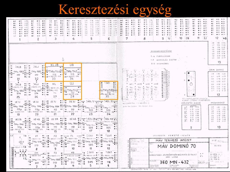Rétlaki Győző: D70 szerkezeti elemek Keresztezési egység