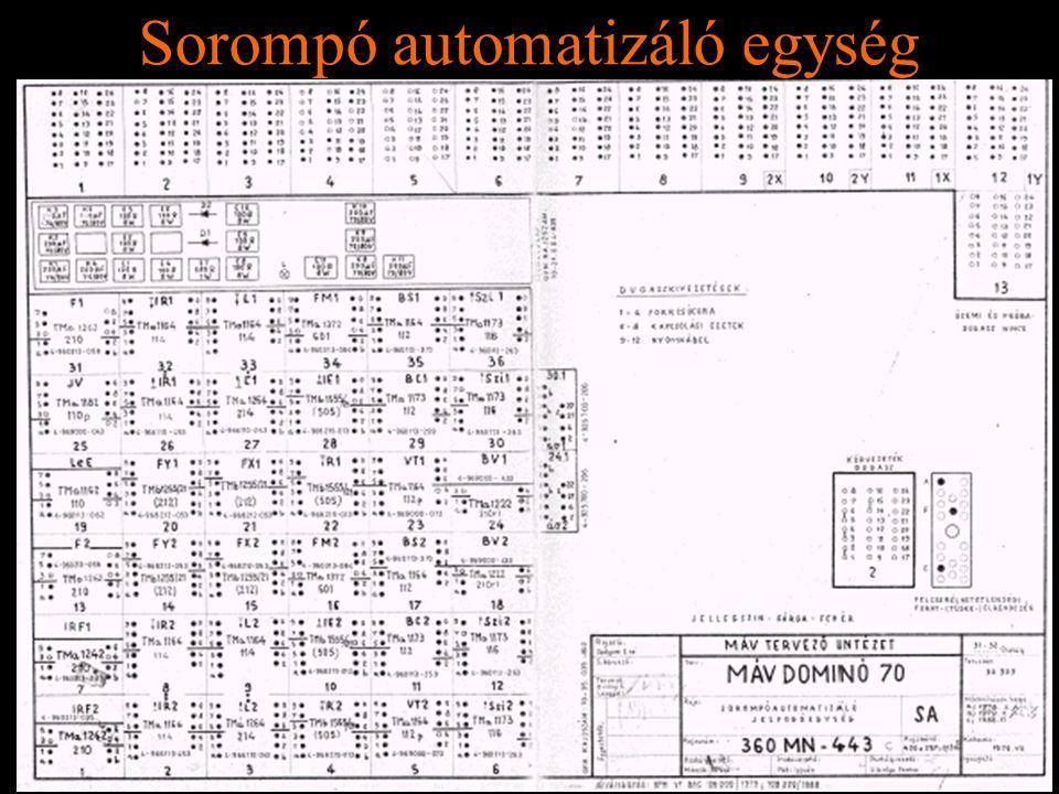 Rétlaki Győző: D70 szerkezeti elemek Sorompó automatizáló egység