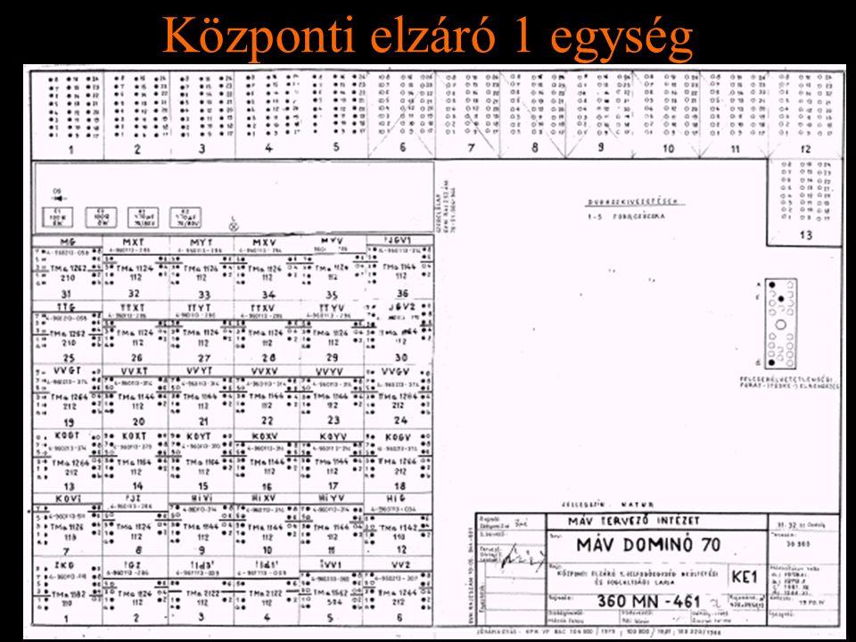 Rétlaki Győző: D70 szerkezeti elemek Központi elzáró 1 egység