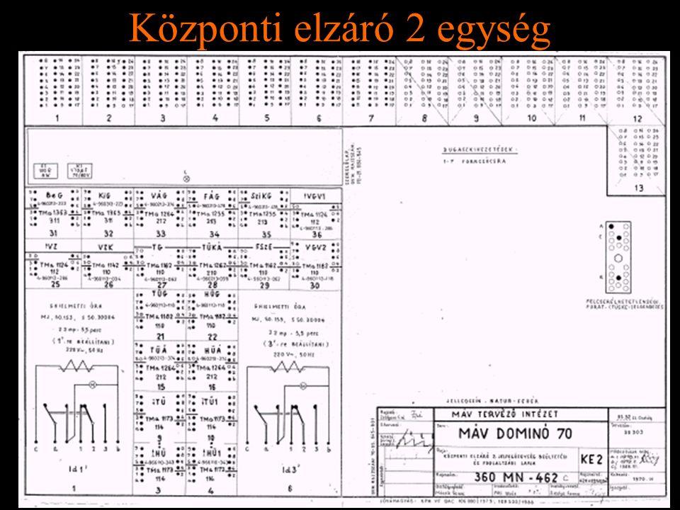 Rétlaki Győző: D70 szerkezeti elemek Központi elzáró 2 egység