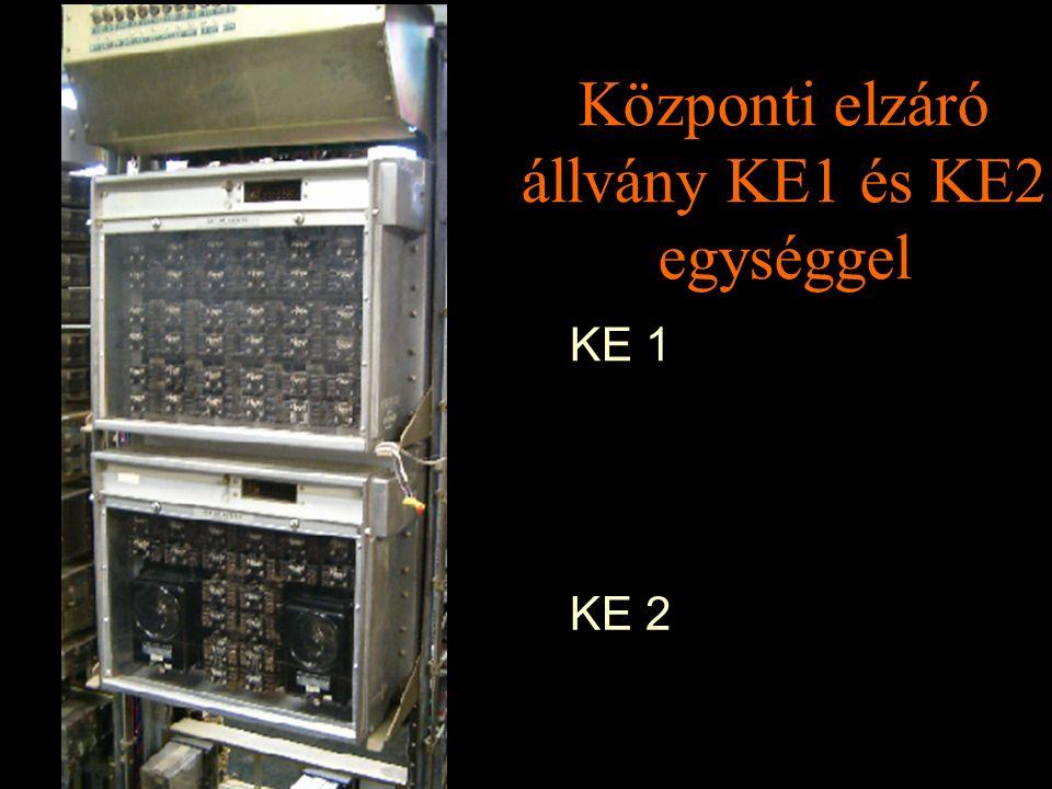 Rétlaki Győző: D70 szerkezeti elemek Központi elzáró állvány KE1 és KE2 egységgel KE 1 KE 2