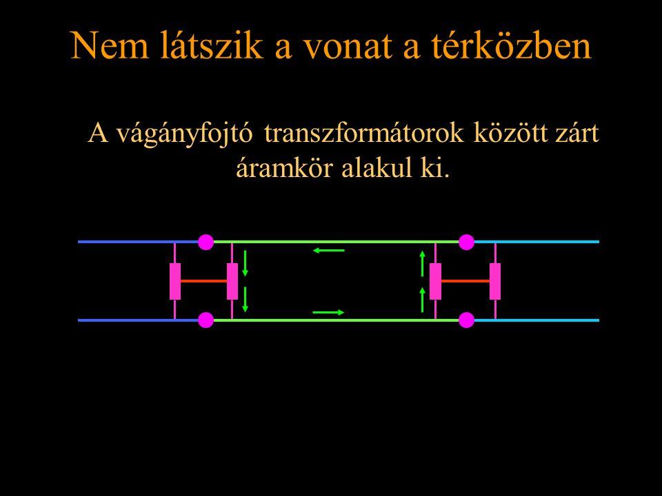 Rétlaki Győző: Földelési rendszer Nem látszik a vonat a térközben A vágányfojtó transzformátorok között zárt áramkör alakul ki.