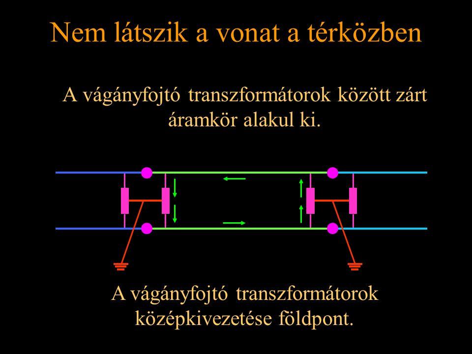 Rétlaki Győző: Földelési rendszer Nem látszik a vonat a térközben A vágányfojtó transzformátorok között zárt áramkör alakul ki. A vágányfojtó transzfo