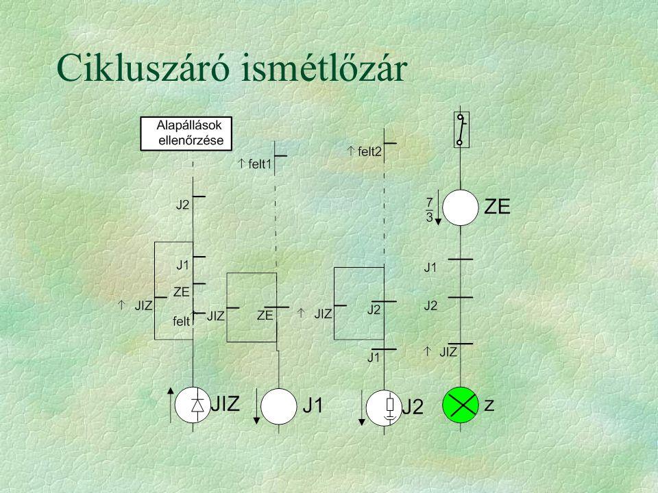 Jelfogós áramkörök méretezési szempontjai §az érintkező terhelhetősége a biztosítóválasztás első szempontja §XJ, TM jelfogók érintkezőinek terhelhetősége 2,5 A (Integra 4A olvadó) §erősáramú érintkezők 6 (10) A-el terhelhetők, §búrázott jelfogó csévéjén disszipált teljesítmény max.