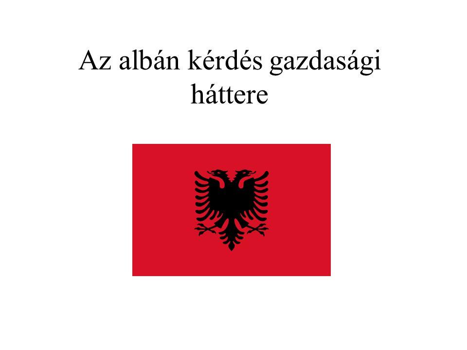 Az albán kérdés gazdasági háttere