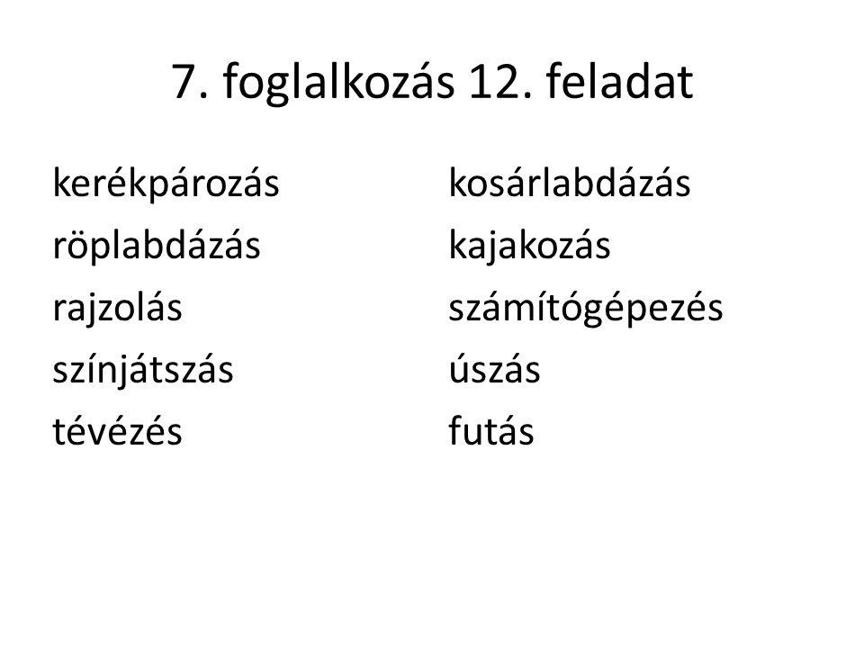 7. foglalkozás 12.