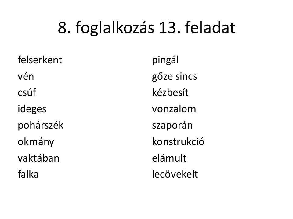 8. foglalkozás 13.
