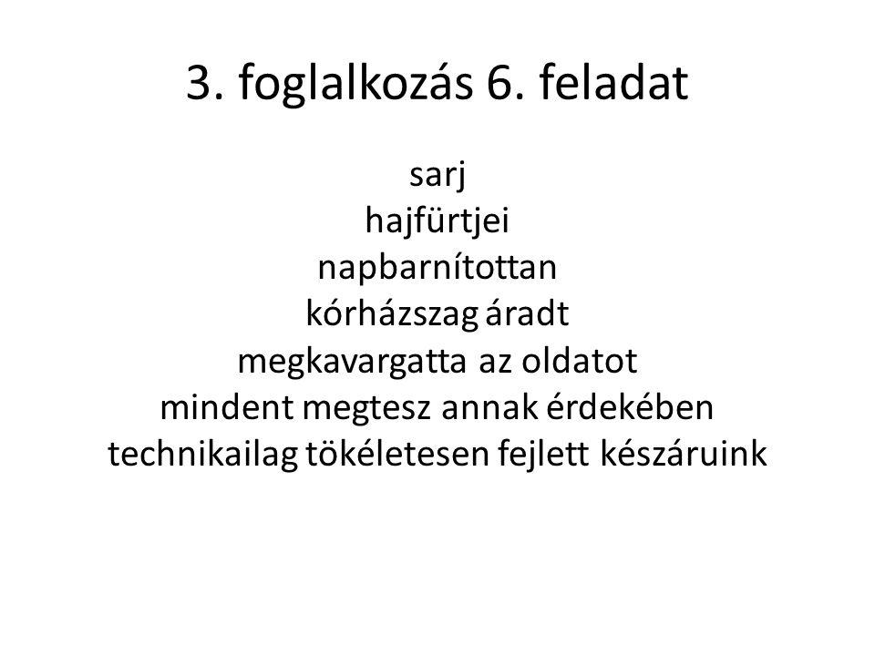 3. foglalkozás 6.