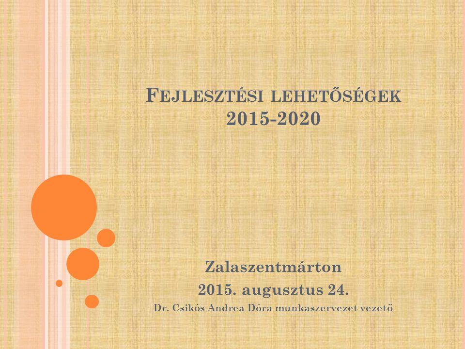 F EJLESZTÉSI LEHETŐSÉGEK 2015-2020 Zalaszentmárton 2015.