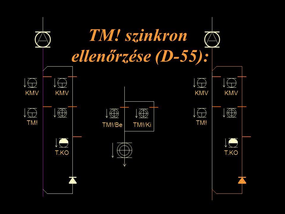 TM! szinkron ellenőrzése (D-55): KMV TM! KMV T.KO KMV TM! KMV T.KO TM!/KiTM!/Be Rétlaki Győző: Kényszer menetirány váltás