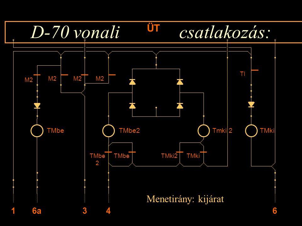 D-70 vonali csatlakozás: M2 ÜT M2 TMbeTMkiTMki2 TMbe 6436a1 TMbe2Tmki 2TMki TMbe 2 TI Menetirány: kijárat Rétlaki Győző: Kényszer menetirány váltás
