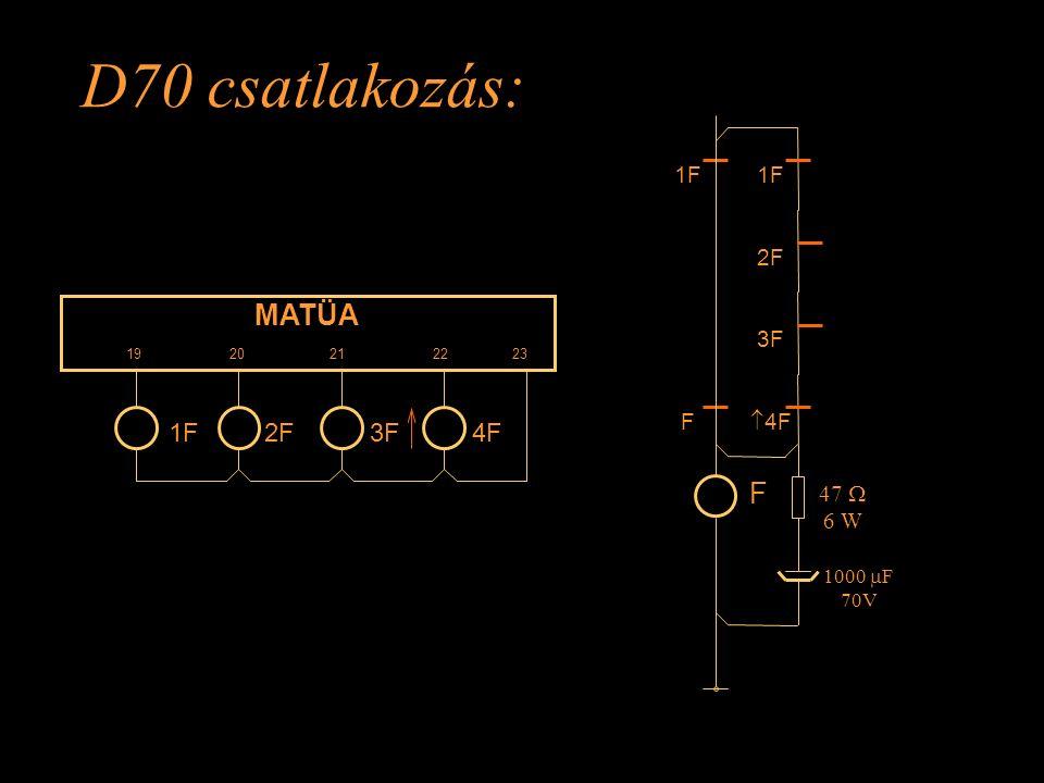 D70 csatlakozás: MATÜA 19 20 21 22 23 4F2F3F1F 2F 3F  4F F 47  6 W 1000  F 70V F Rétlaki Győző: Kényszer menetirány váltás