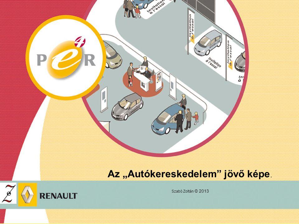 """Az """"Autókereskedelem jövő képe. Szabó Zoltán © 2013"""