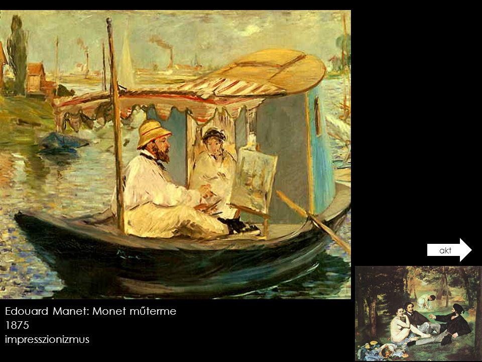 Edouard Manet: Monet műterme 1875 impresszionizmus akt