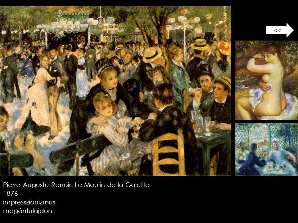 Pierre Auguste Renoir: Le Moulin de la Galette 1876 impresszionizmus magántulajdon akt