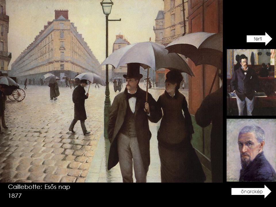 Caillebotte: Esős nap 1877 férfiönarckép
