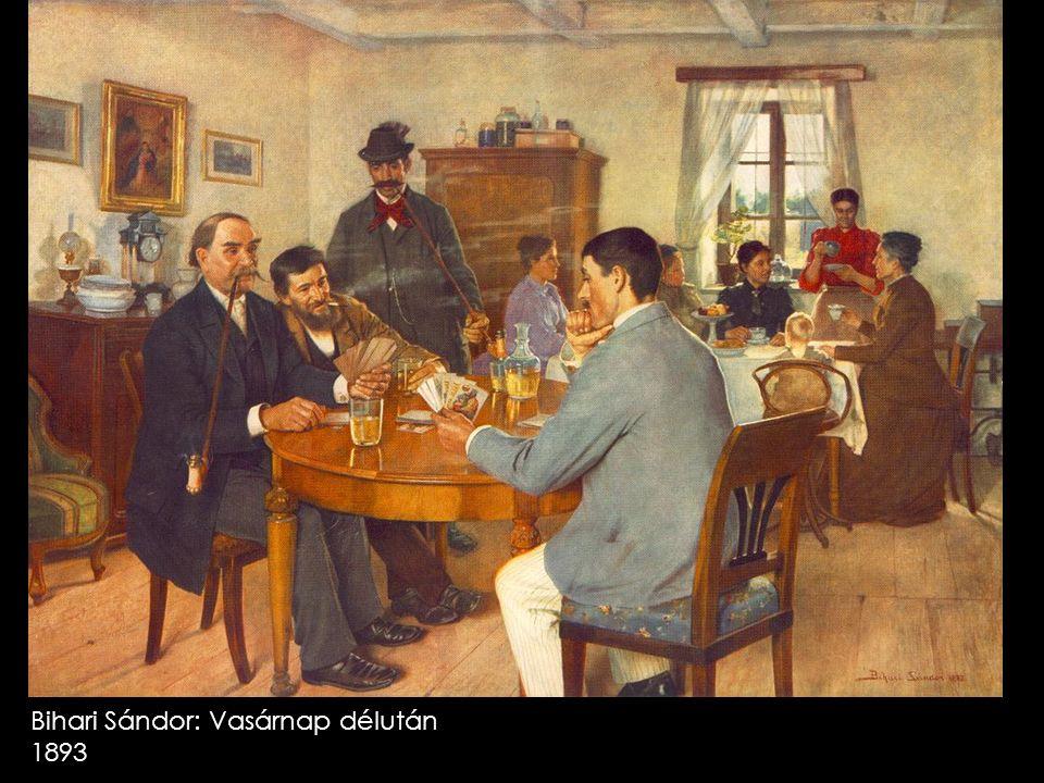 Bihari Sándor: Vasárnap délután 1893
