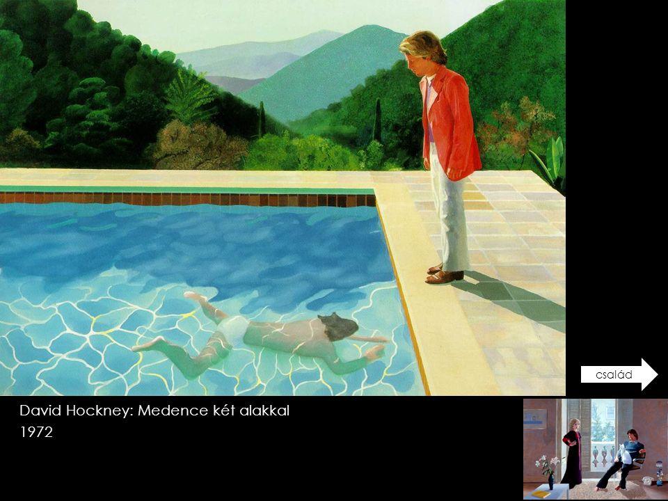 David Hockney: Medence két alakkal 1972 család