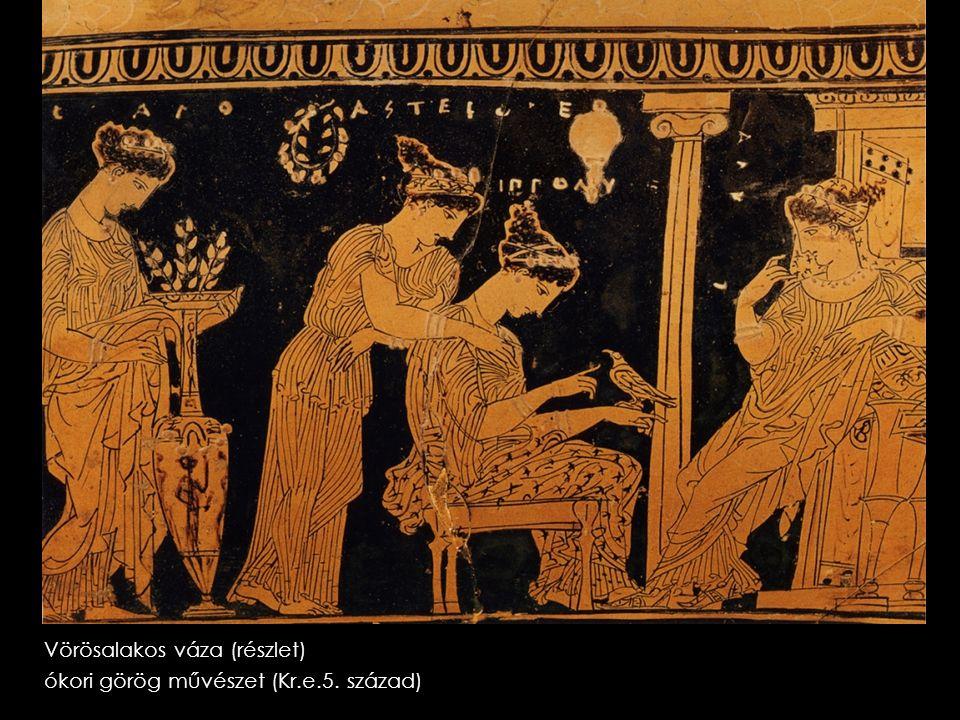 Vörösalakos váza (részlet) ókori görög művészet (Kr.e.5. század)