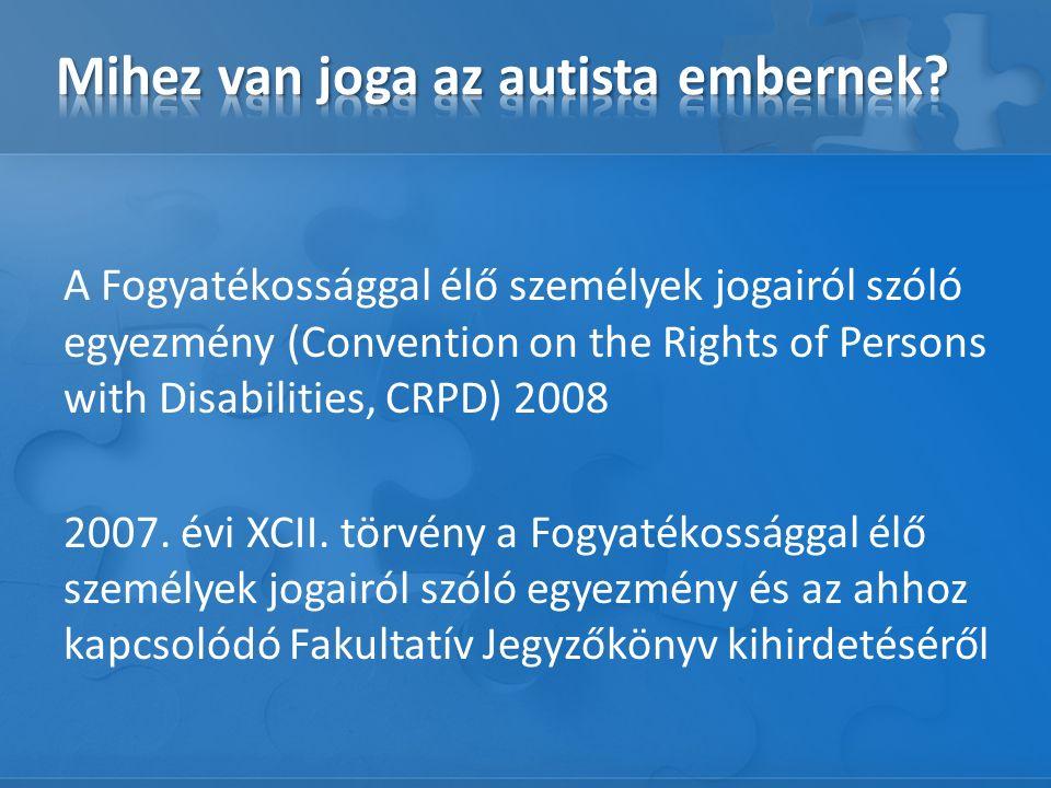 A Fogyatékossággal élő személyek jogairól szóló egyezmény (Convention on the Rights of Persons with Disabilities, CRPD) 2008 2007.