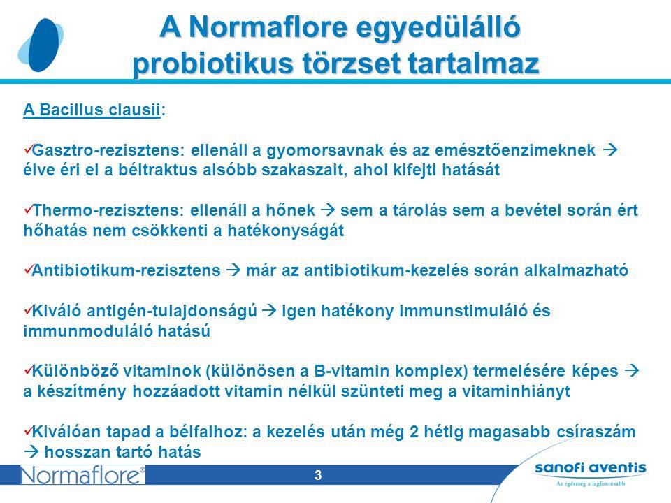 4 A Normaflore egyedülállóan hatékony A Normaflore egyedülállóan hatékony módon javítja a bélflóra működését Javítja a szervezet immunműködését, gátolja a kórokozók szaporodását és pótolja a hiányzó vitaminokat.