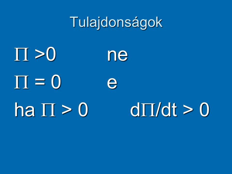 Extrópia d  = (1/To - 1/T) dE + (po/To – p/T)dV..