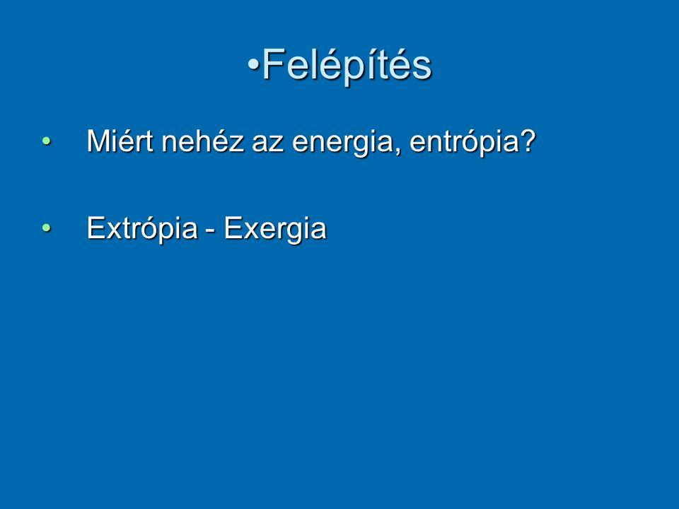FelépítésFelépítés Miért nehéz az energia, entrópia?Miért nehéz az energia, entrópia.