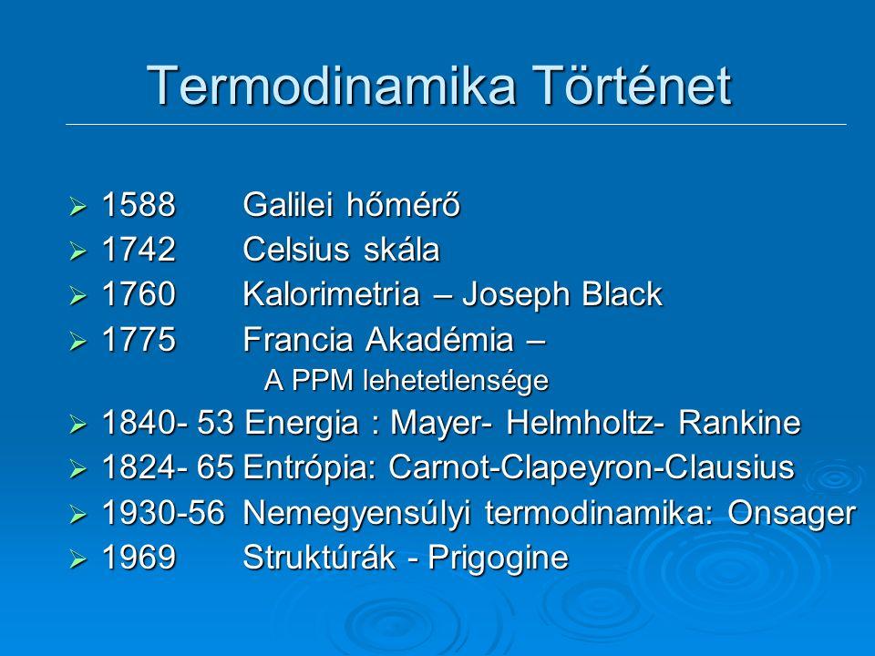 """Fenomenologikus vagy axiomatikus termodinamika  Energiamegmaradás Az energia """"általános csereérték"""" Az energia """"általános csereérték""""  Irreverzibili"""