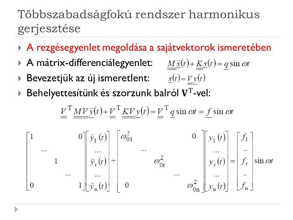 Többszabadságfokú rendszer harmonikus gerjesztése