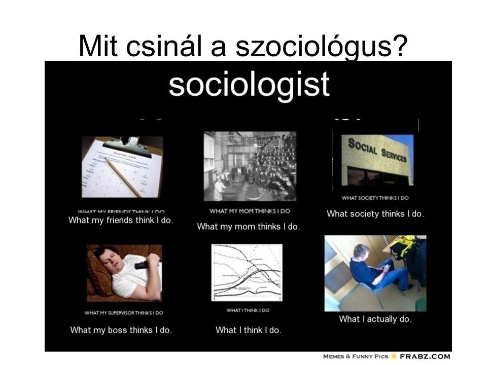 Mit csinál a szociológus?