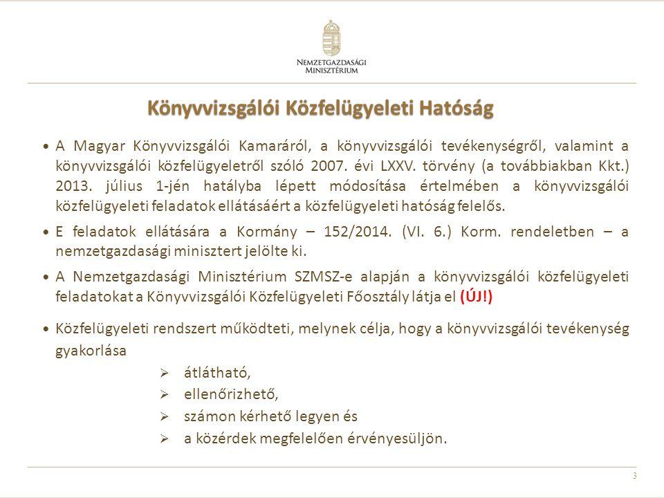 3 Könyvvizsgálói Közfelügyeleti Hatóság A Magyar Könyvvizsgálói Kamaráról, a könyvvizsgálói tevékenységről, valamint a könyvvizsgálói közfelügyeletről