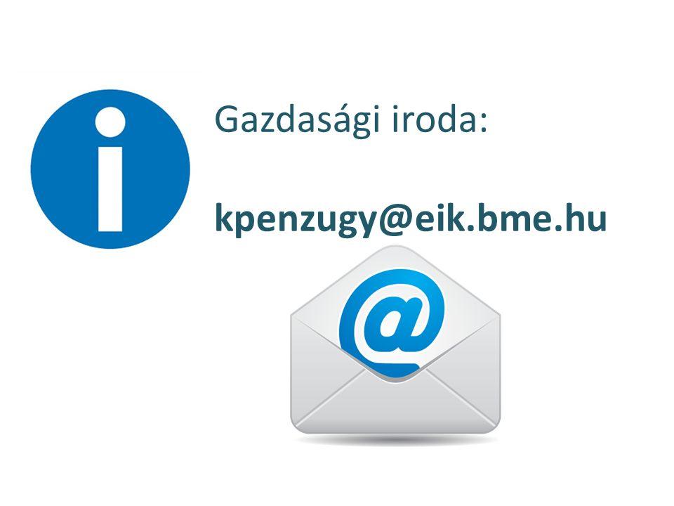 Gazdasági iroda: kpenzugy@eik.bme.hu