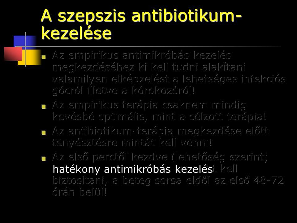 A szepszis antibiotikum- kezelése