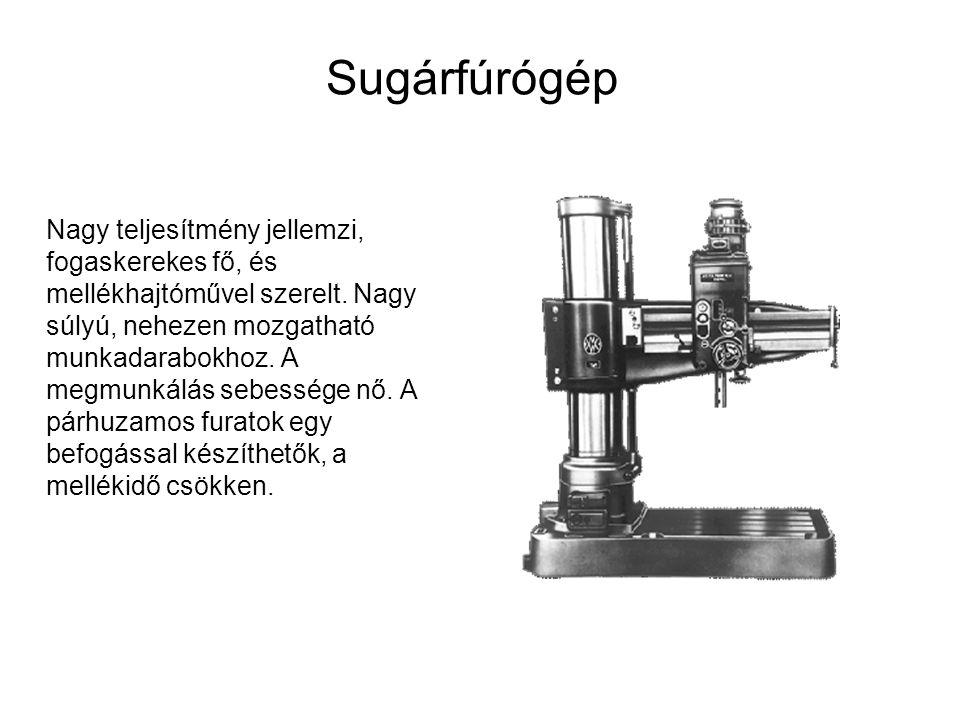 Sugárfúrógép Nagy teljesítmény jellemzi, fogaskerekes fő, és mellékhajtóművel szerelt.
