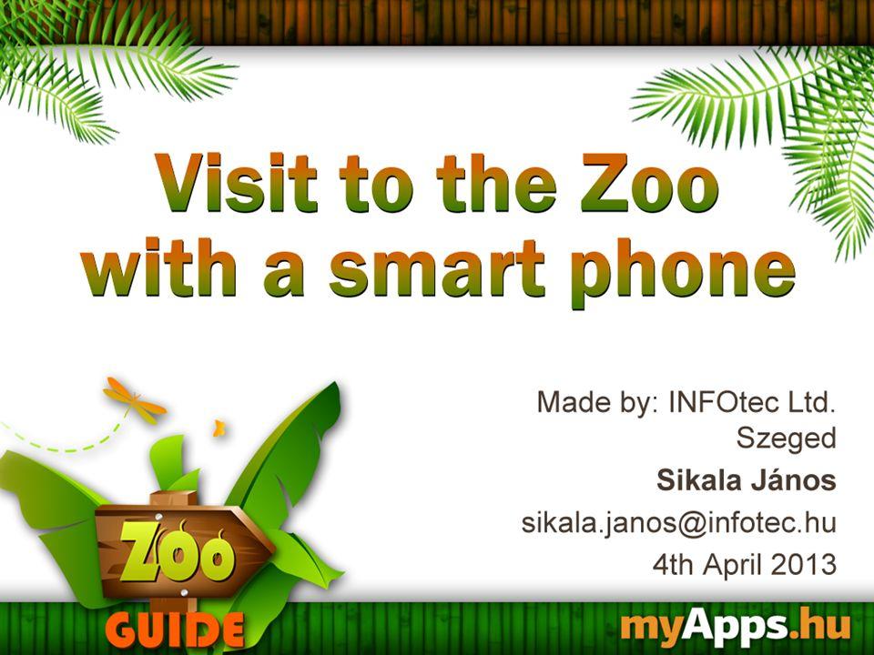 """ZooGuide – az ismeretterjesztés és az oktatás eszköze  Érdekes és részletes leírások a park állatairól  """"Audioguide funkcióval kiegészített virtuális séta  Könnyű kezelhetőség, QR –kódok alkalmazása  Információk megosztása közösségi oldalon  Gyakorlati információk a Szegedi Vadasparkról  Több nyelven elérhető információk  146 állat leírása  38 állat többnyelvű hanganyaggal"""