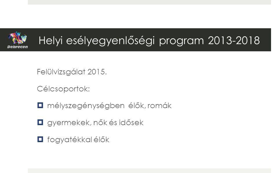 Helyi esélyegyenlőségi program 2013-2018 Felülvizsgálat 2015.