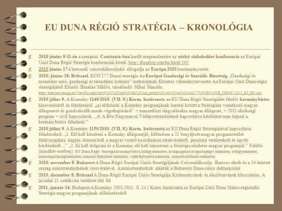 4 2010 június 9-11-én a romániai Constanta-ban került megrendezésre az utolsó stakeholder konferencia az Európai Unió Duna Régió Stratégia konferenciái közül.