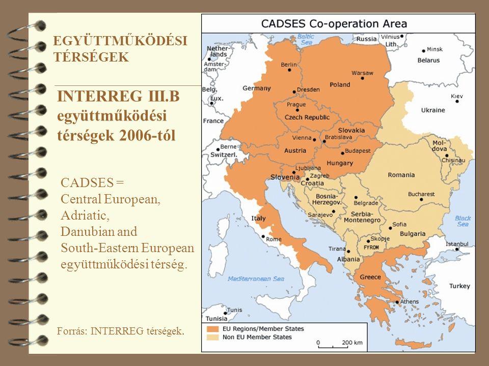 Forrás: INTERREG térségek.