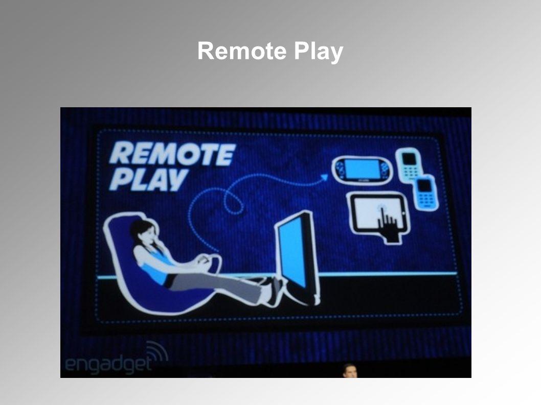 Remote play szolgáltatáson keresztül a PlayStation Vitára streamel a videoképet, így a támogatott játékokat a távolból is lehet játszani a kézikonzolon.
