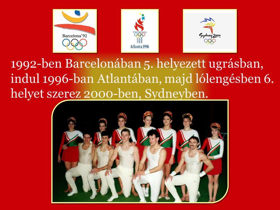 1992-ben Barcelonában 5. helyezett ugrásban, indul 1996-ban Atlantában, majd lólengésben 6.