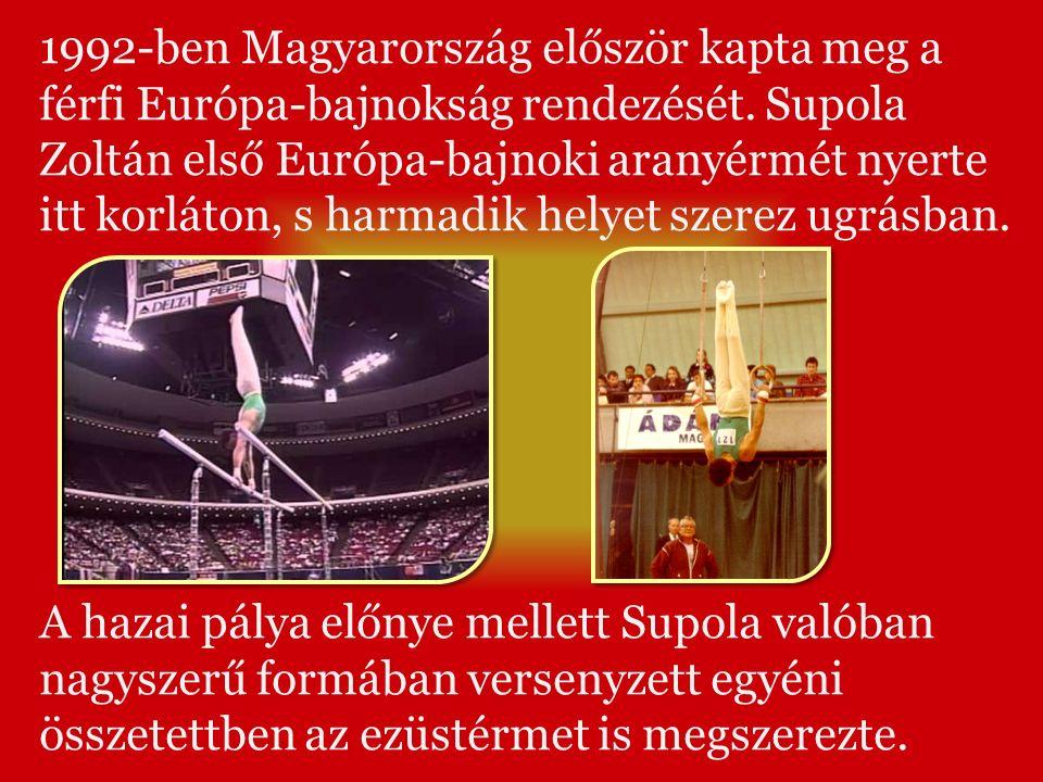 1992-ben Magyarország először kapta meg a férfi Európa-bajnokság rendezését.