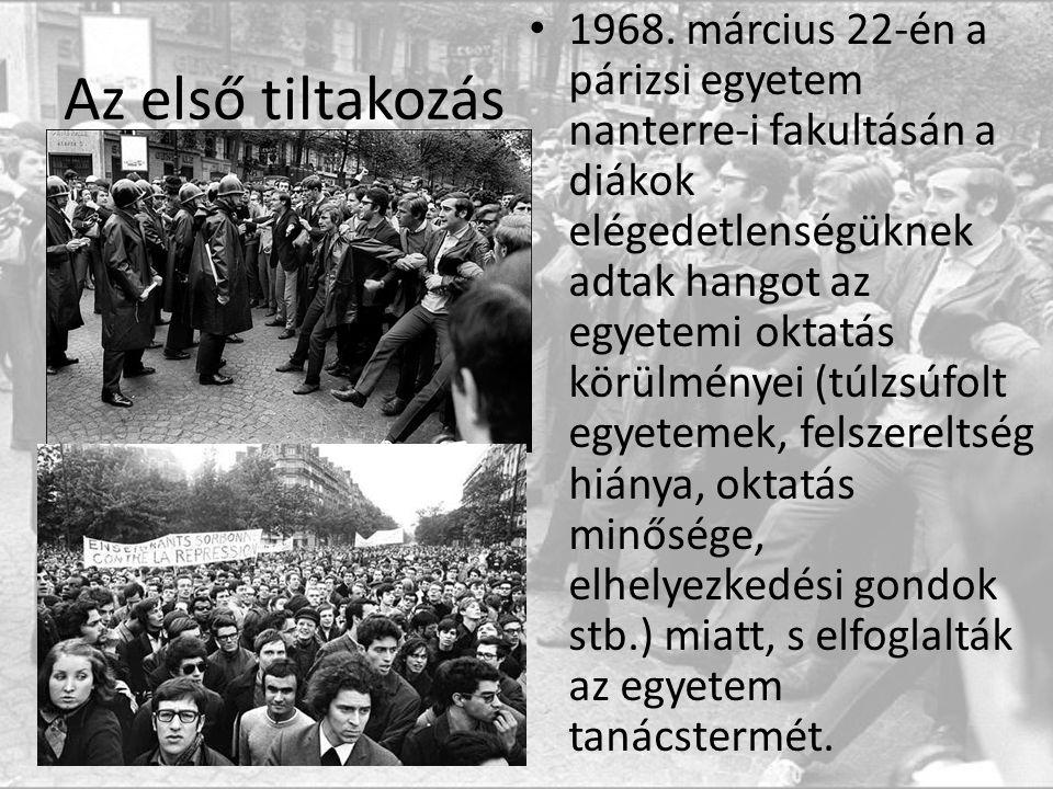 Az első tiltakozás 1968.
