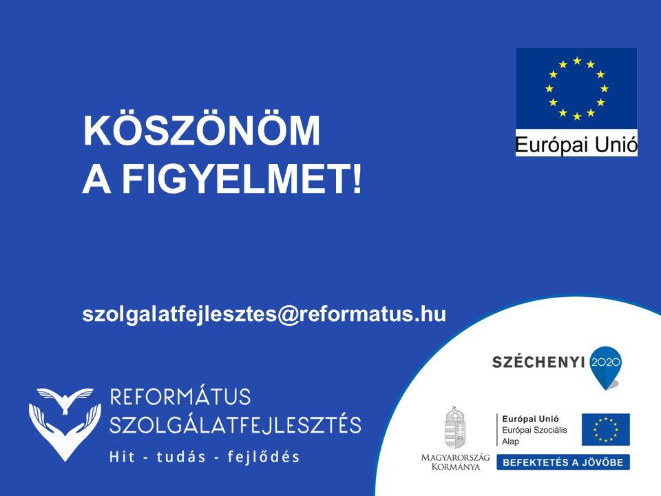 KÖSZÖNÖM A FIGYELMET! szolgalatfejlesztes@reformatus.hu